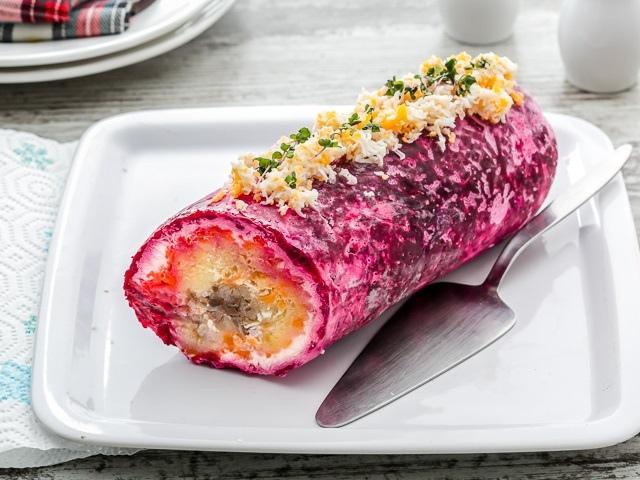 Салат селедка под шубой без картошки