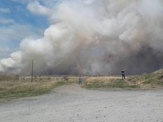 Ми-8 вылетел вЧелябинскую область для борьбы с большим степным пожаром